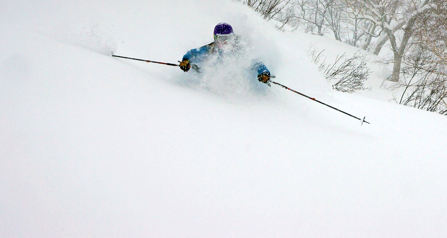 hakuba ski concierge owner nadine robb in deep japan powder