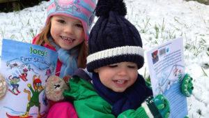 introducing kids to skiing in hakuba