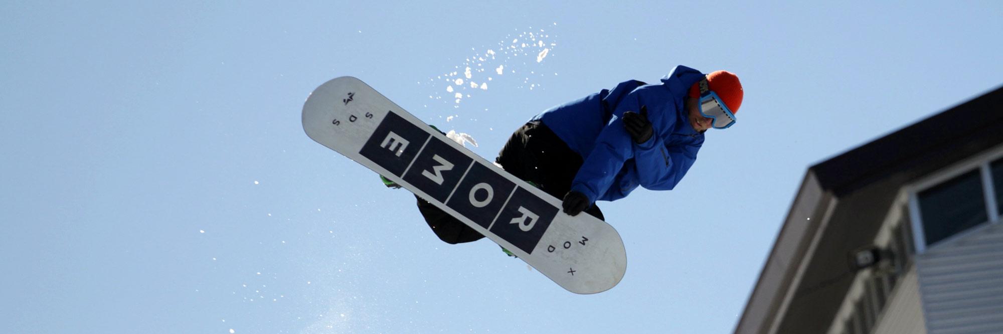 freestyle snowboarding in hakuba